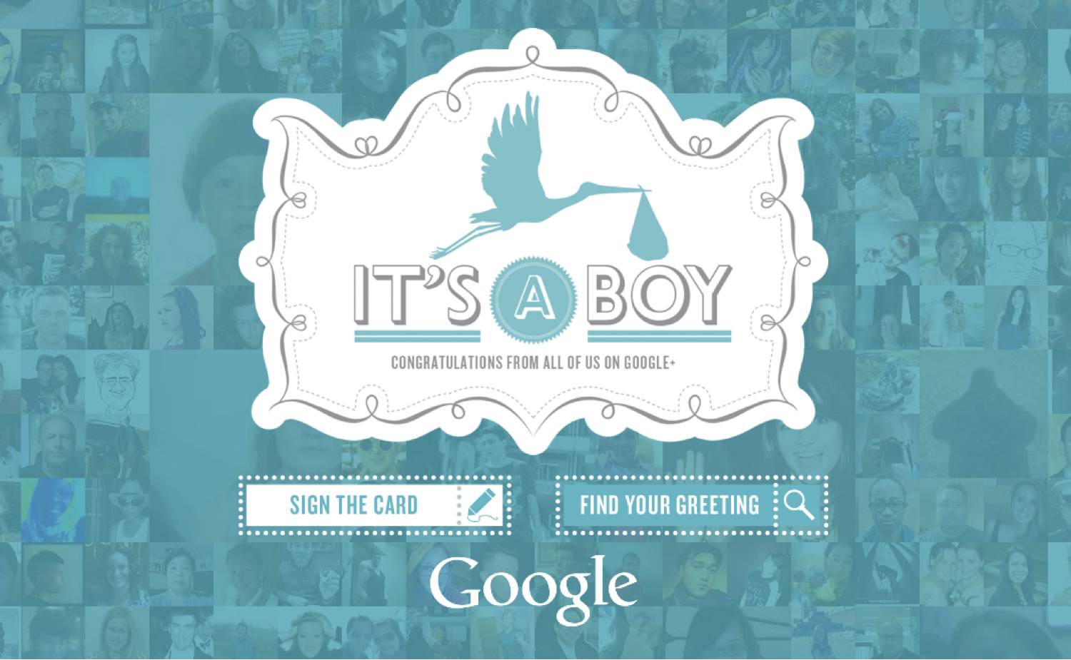 It's a boy! Já assinou o cartão virtual da Google?