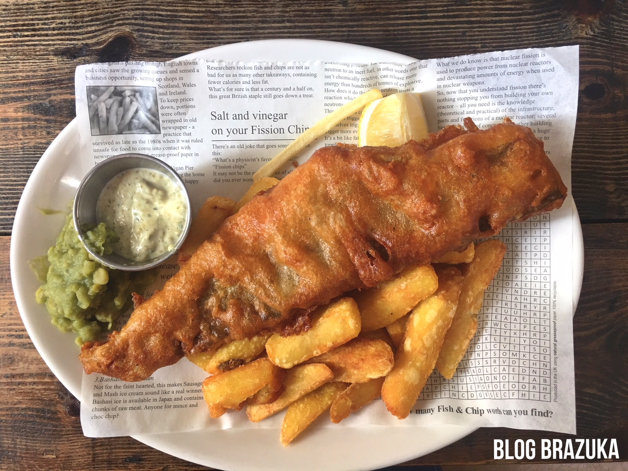 Fish and chips em Londres The Clarence